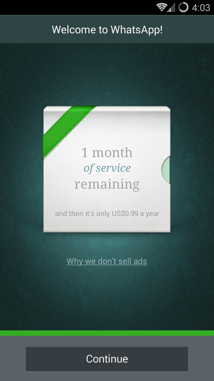 Bersedia dengan WhatsApp berbayar?