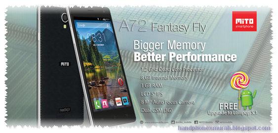Mito A72 Fantasy Fly HP Spek Canggih 800 Ribuan