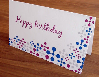 Folded and printed out birthday card