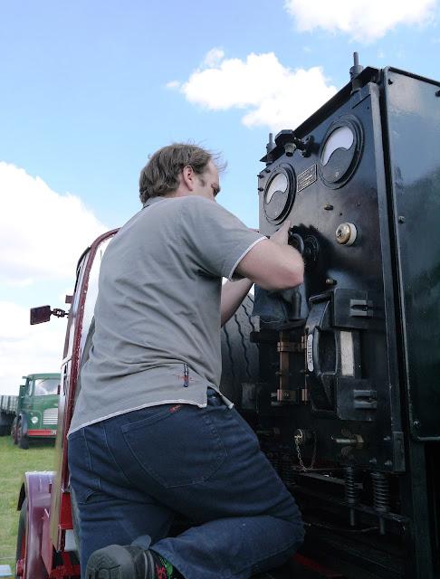 Andrew polishing his lorry