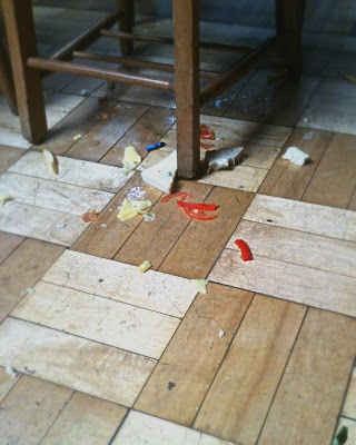messy floor