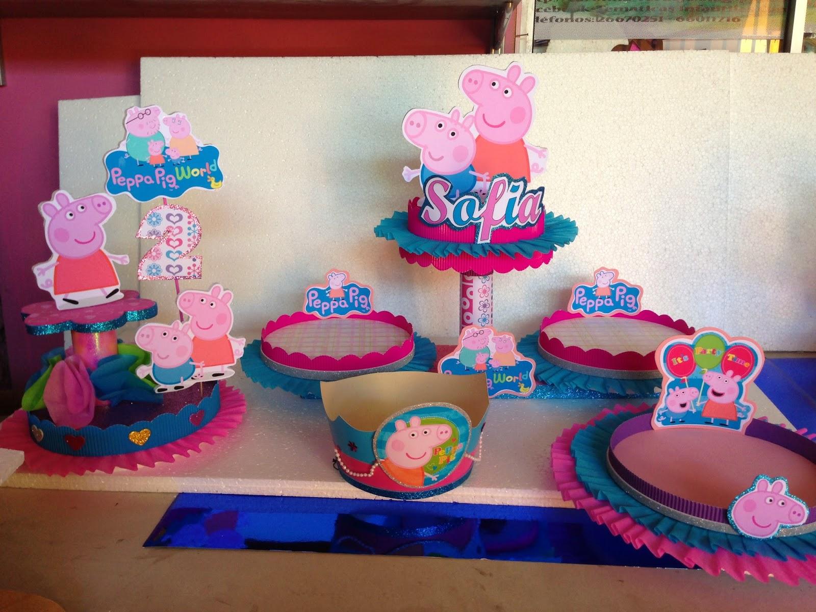 Decoracion Cumplea?os Peppa Pig ~ Publicado por Carolina Verdejo S en 7 16