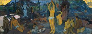 El arte del desnudo en Paul Gauguin (49 años) - ¿De dónde venimos? ¿Qué somos? ¿Adónde vamos? (1897)