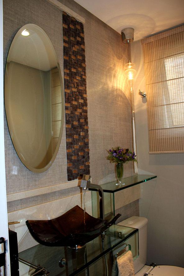 ideias decoracao lavabo: Revestimentos: Ideias de decoração de lavabo com papel de parede