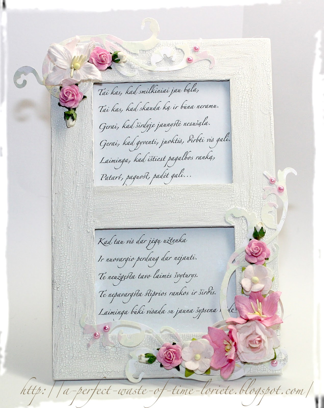 wild orchid crafts a frame with words