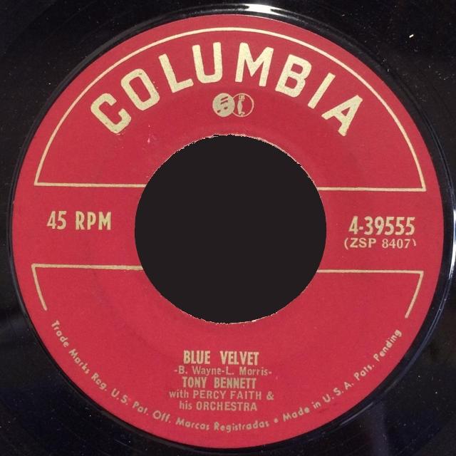Blue Velvet. Tony Bennett