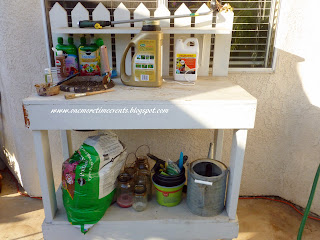 Potting Bench and Wire Basket Makeover at One More Time Events.com