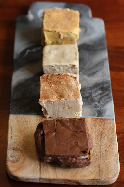 Oliver Pecan Company Fudge-Pumpkin, Maple Pecan, Churro, Chocolate Pecan