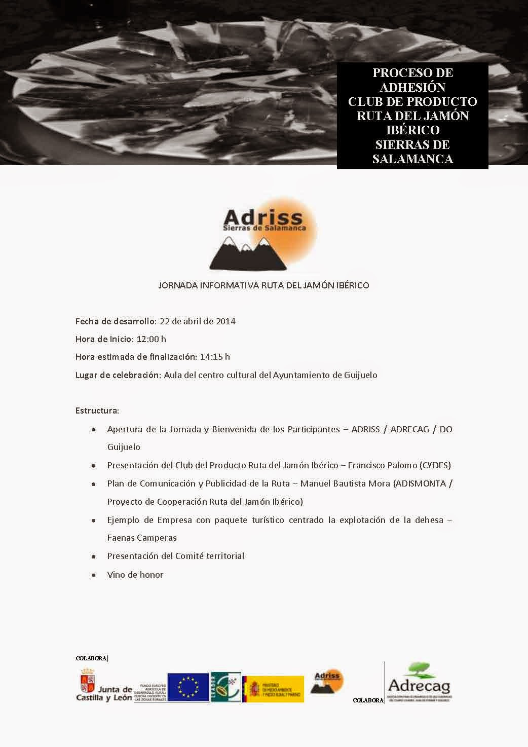 """22/Abril. Jornada Informativa """"Ruta del Jamón Ibérico"""". Guijuelo"""
