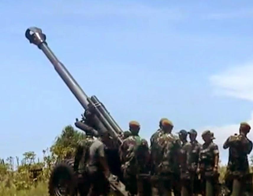 Howitzer 155 mm KH-179 tni