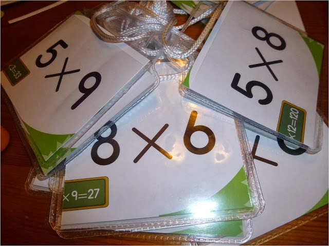 http://lookingfromthirdtofourth.blogspot.ca/2014/01/multiplication-nametags-tried-trying-it.html