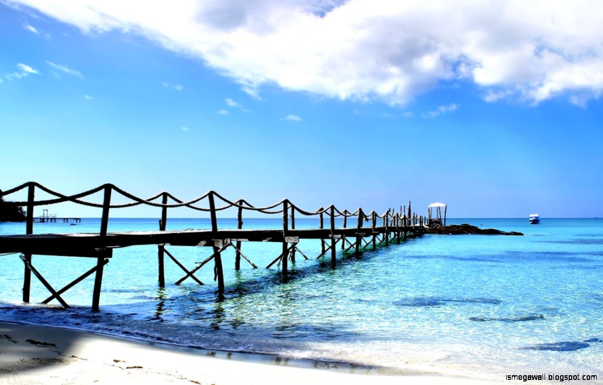 wallpaper hd beach bridge | mega wallpapers