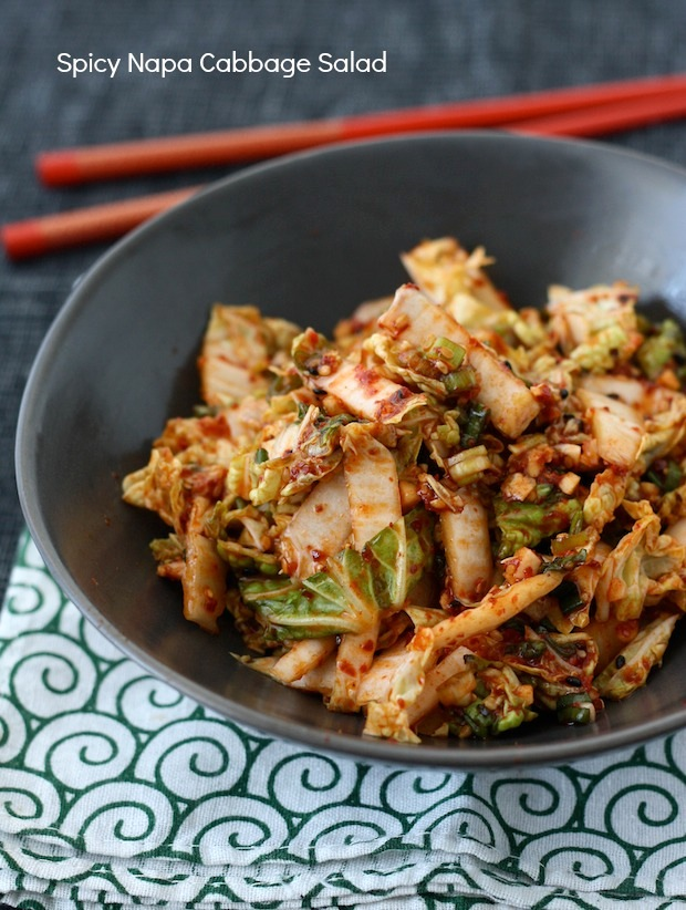Korean Napa Cabbage Salad recipe by SeasonWithSpice.com