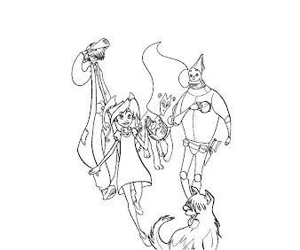 #3 Wizard of Oz Coloring Page