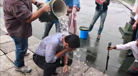 Sonny Angara accepts ALS Ice Bucket Challenge, files rare diseases bill
