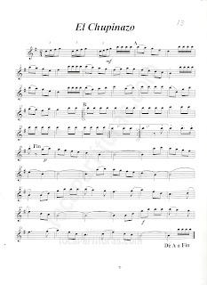 Partitura de El Chupinazo  como pasó de Saxofón Alto (Sheet Music for Alto Sax) Pasodoble
