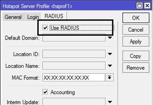 IP Hotspot Sever Profiles