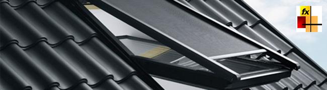 Muros cortina ventanas de tejado fx y la protecci n solar for Tapparelle velux