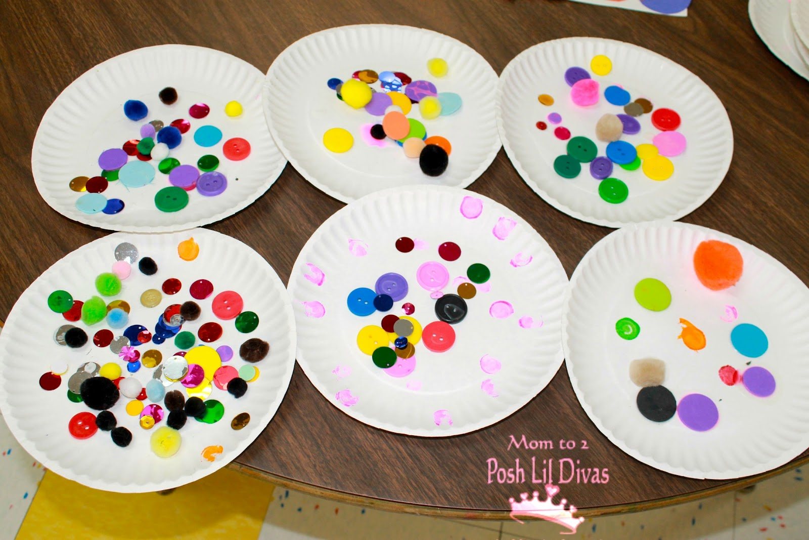 They distinguished between circles vs squares for Art craft for preschool