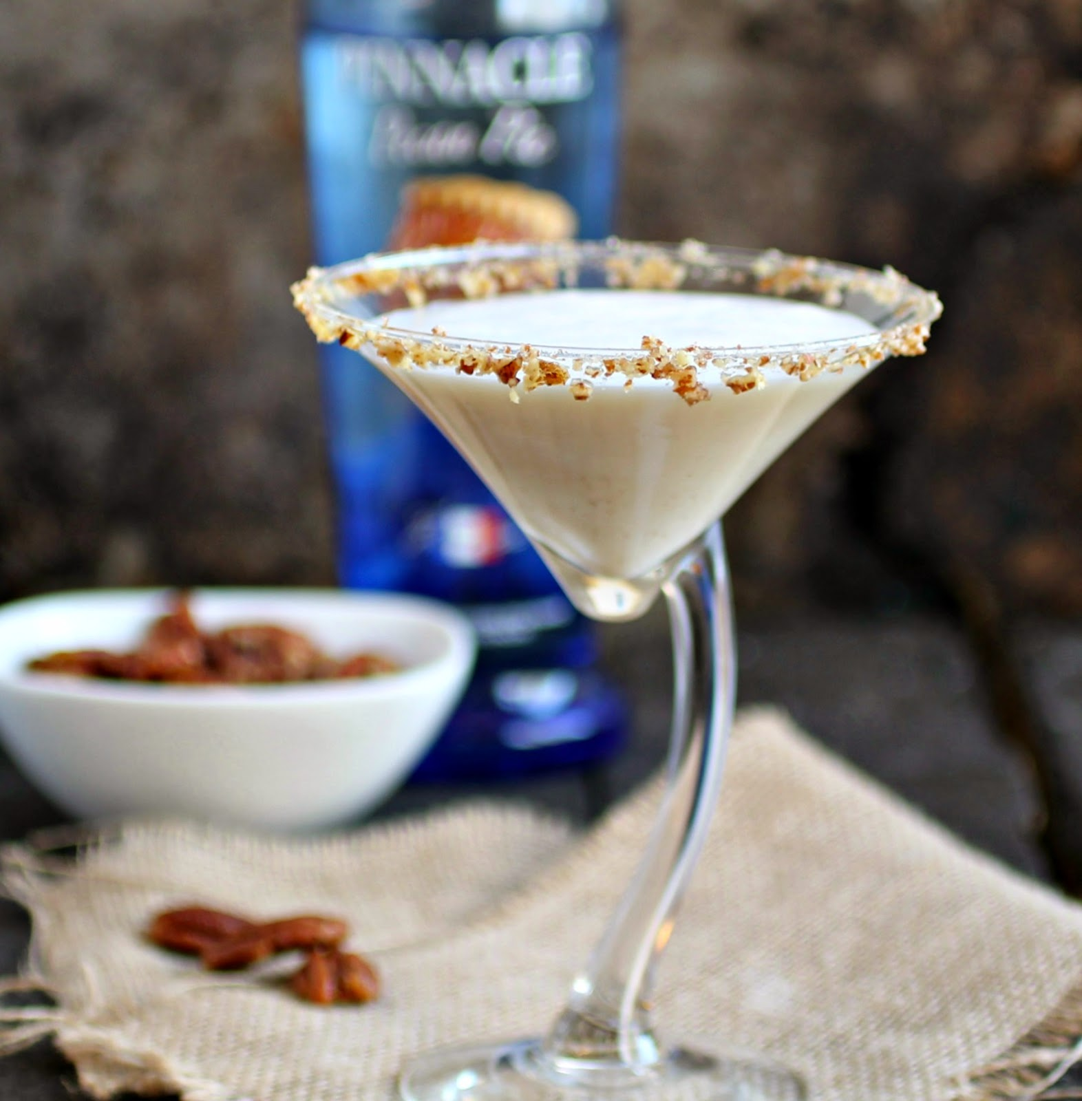 Pecan Pie Martini and Easy Maple Roasted Pecans