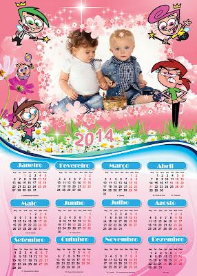 Calendário 2014 com feriados para photoshop com moldura para fotos da ...