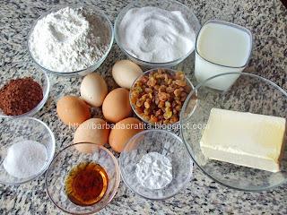 Negresa cu stafide ingrediente reteta