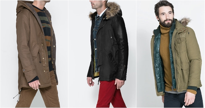 Abrigos moda joven hombre
