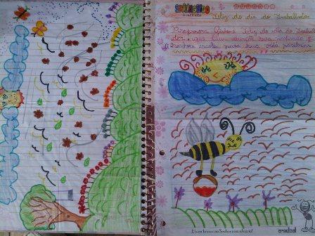 Ganhei estes desenhos de minha aluna Ágata do 3° ano