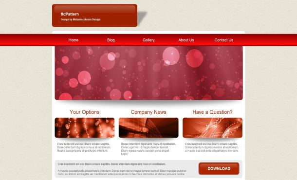 Jquery Business Red Pink CSS Website Template