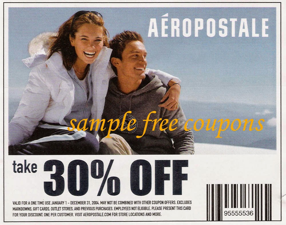 Employees of Aeropostale or its affiliates not eligible. Duplication or reproduction of this coupon in any manner voids the coupon and Aeropostale has no obligation to accept it. Please present this coupon to receive discount. Limit one coupon per customer. Redeemable at Aeropostale and Aeropostale Factory stores in the U.S. and Puerto Rico only.