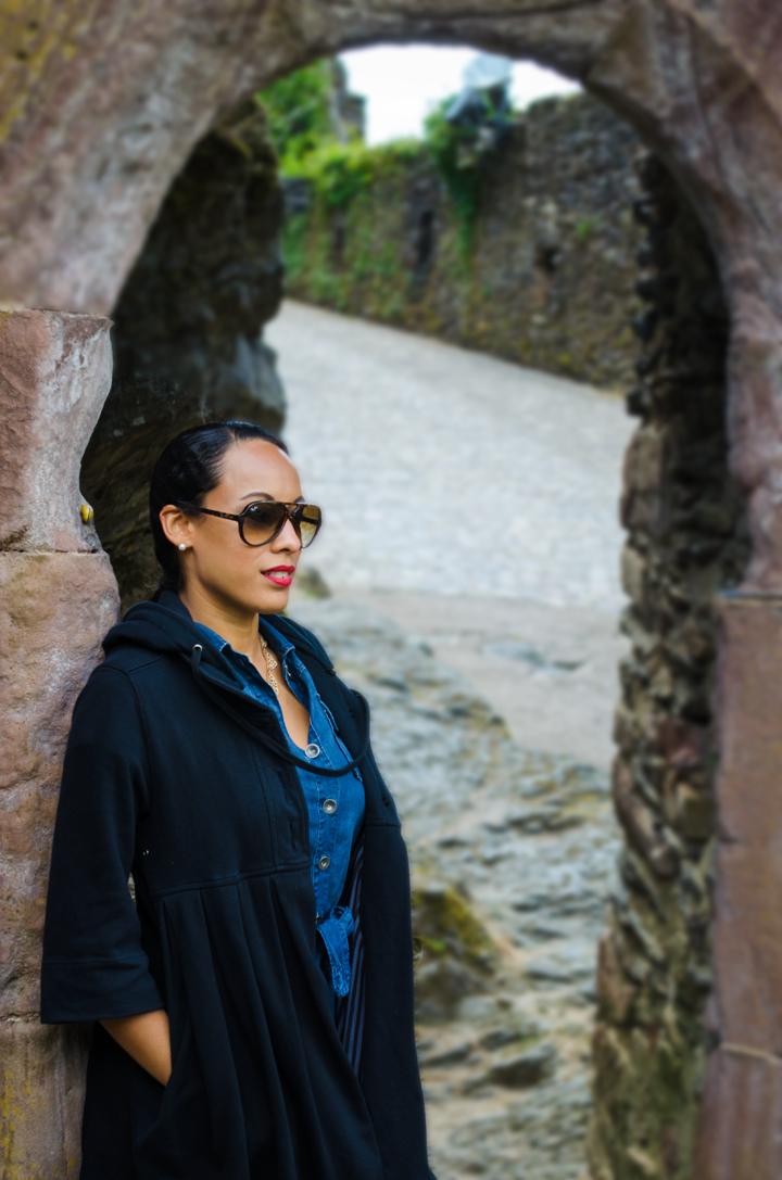 exploring European castles in Ray Bans