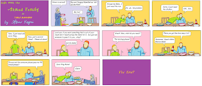 Life with the Ahmad Family comic for Muslim Children: Table Manners