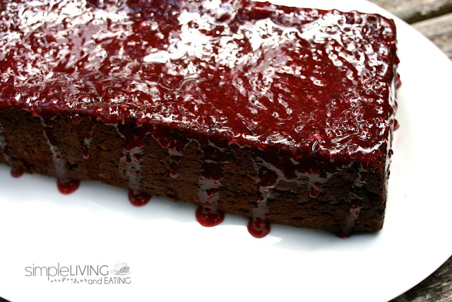 Chocolate Raspberry Cake: Simple LIving and Eating