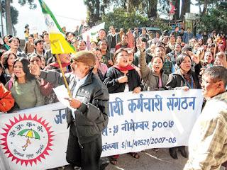 Janmukti Asthayi Karmachari Sangathan (JAKS) urge state gov, GTA to start regularization process