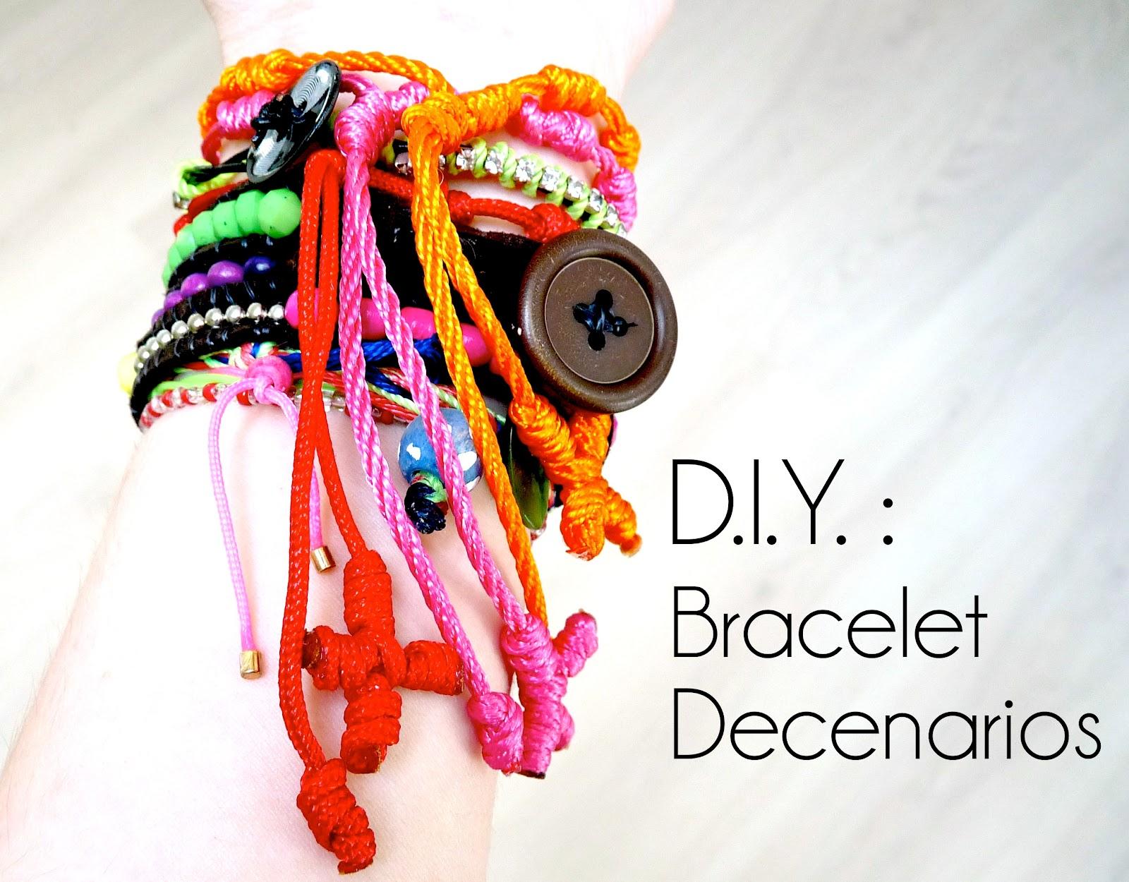 tutoriel vidéo - d.i.y. : comment faire un bracelet decenarios | diy