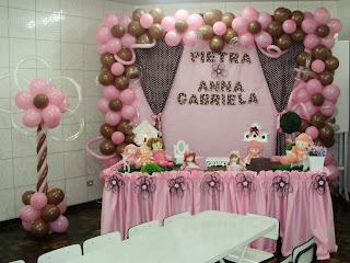 festa infantil ponta grossa sagrada familia marrom rosa