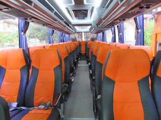 sewa bus pariwisata pekanbaru interior