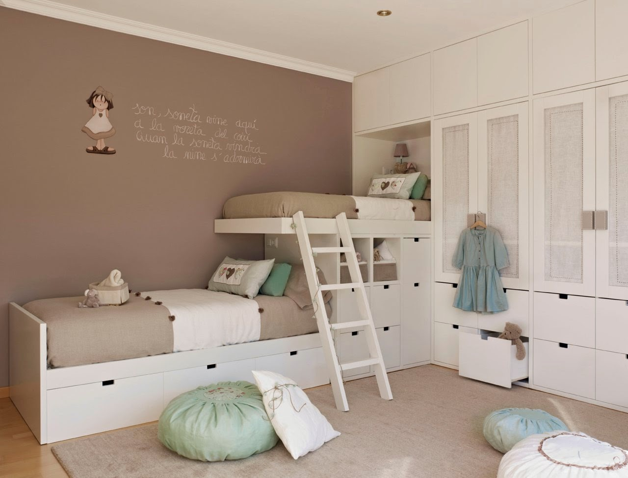 Habitacion infantil con literas 1280x975