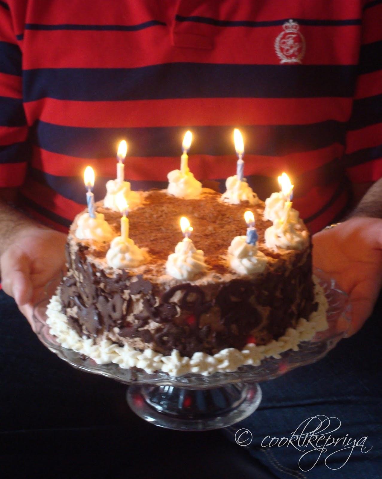 Birthday Cake Images With Name Priya : Cook like Priya: Chocolate Forest Cake ~ Happy Birthday ...
