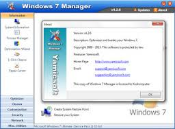 Yamicsoft Windows 7 Manager 4.2.6 Full Keygen Free Download