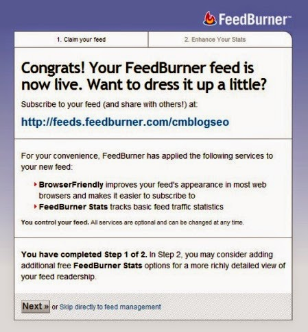 Cara Membuat RSS Feeds Blog di Google Feeburner