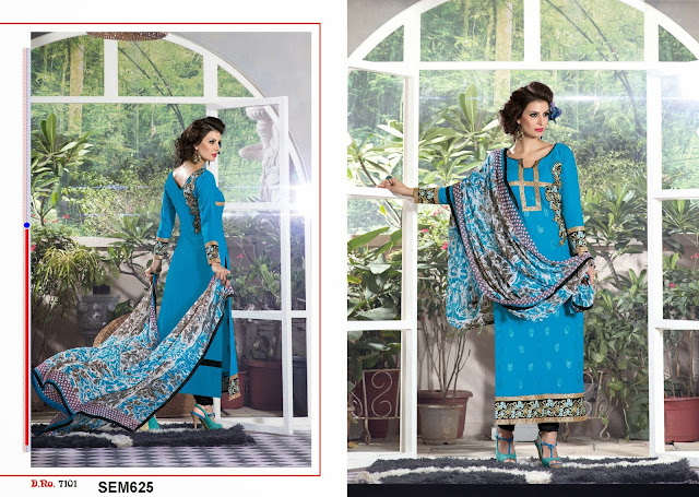 Pure Loan Cotton Straight Cut Salwar Kameez
