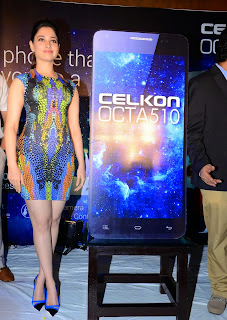 Actress Tamannaah  Picture in Short Dress at Celkon Mobile OCT A510 Launch  169