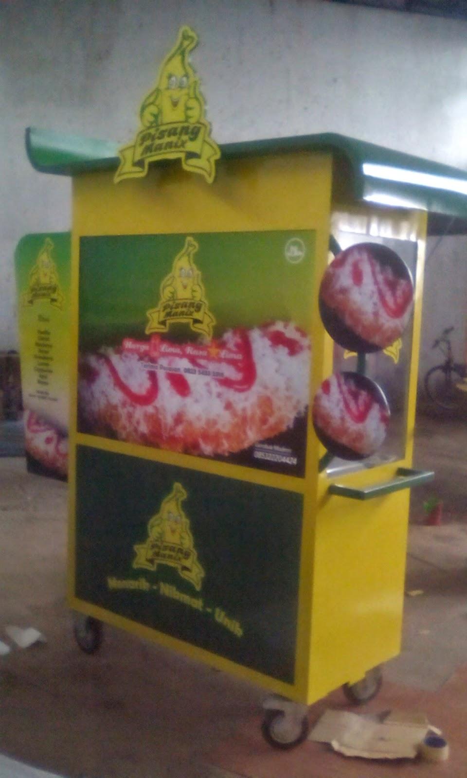 GEROBAK MODERN: gerobak pisang goreng