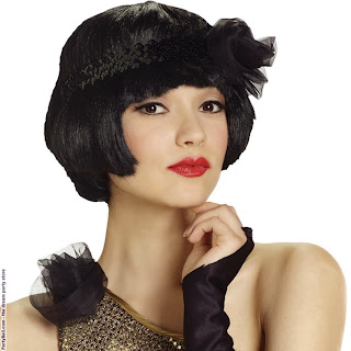 Flapper Flirt Wig Adult (Black)