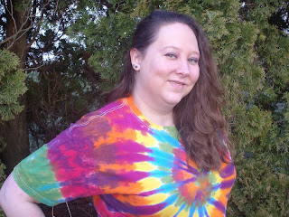 Visionary Bri in a Tie Dye T-Shirt