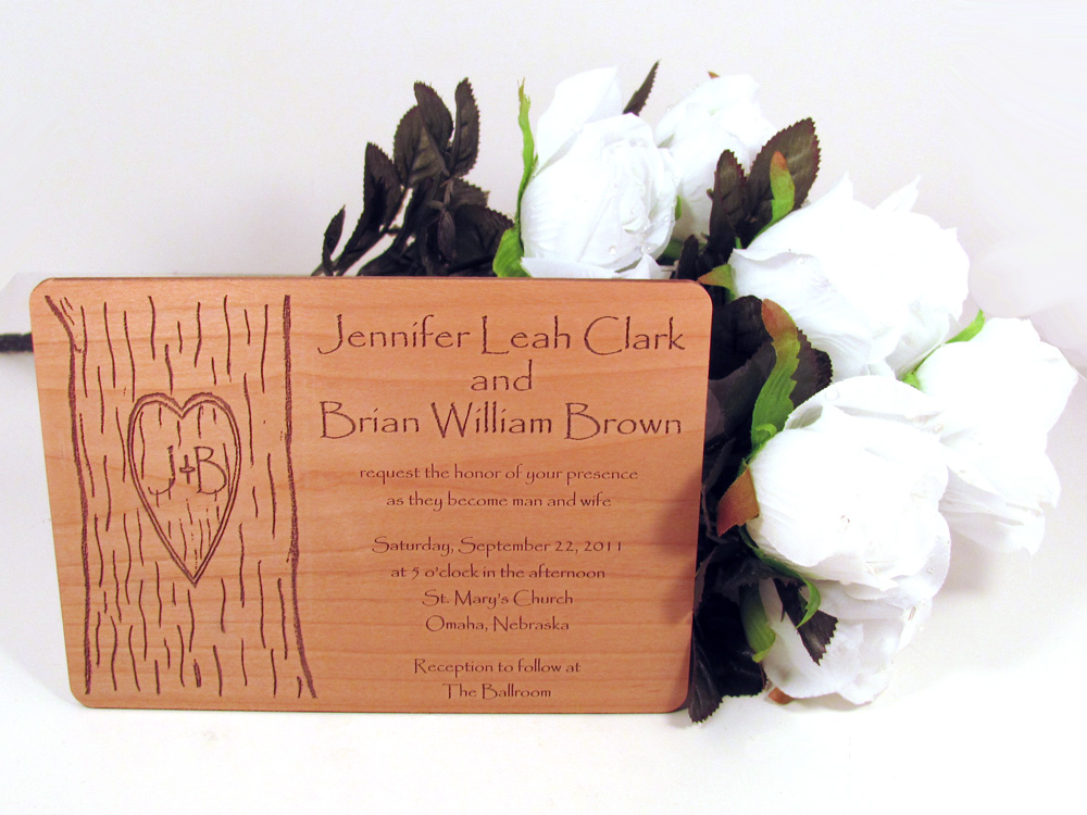 My most recent addition is my Wooden Wedding Invitations