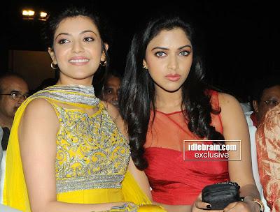 Kajal agarwal and amala paul hot in nayak latest stills