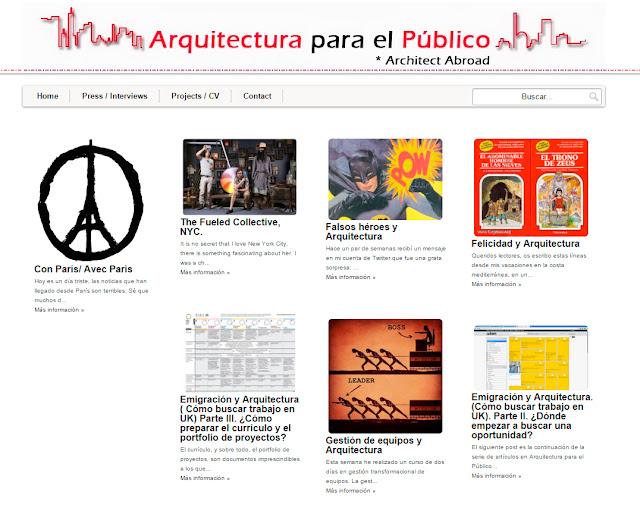 ENTREVISTA A CARLOS MURIEL CREADOR DE ARQUITECTURA PARA EL PÚBLICO