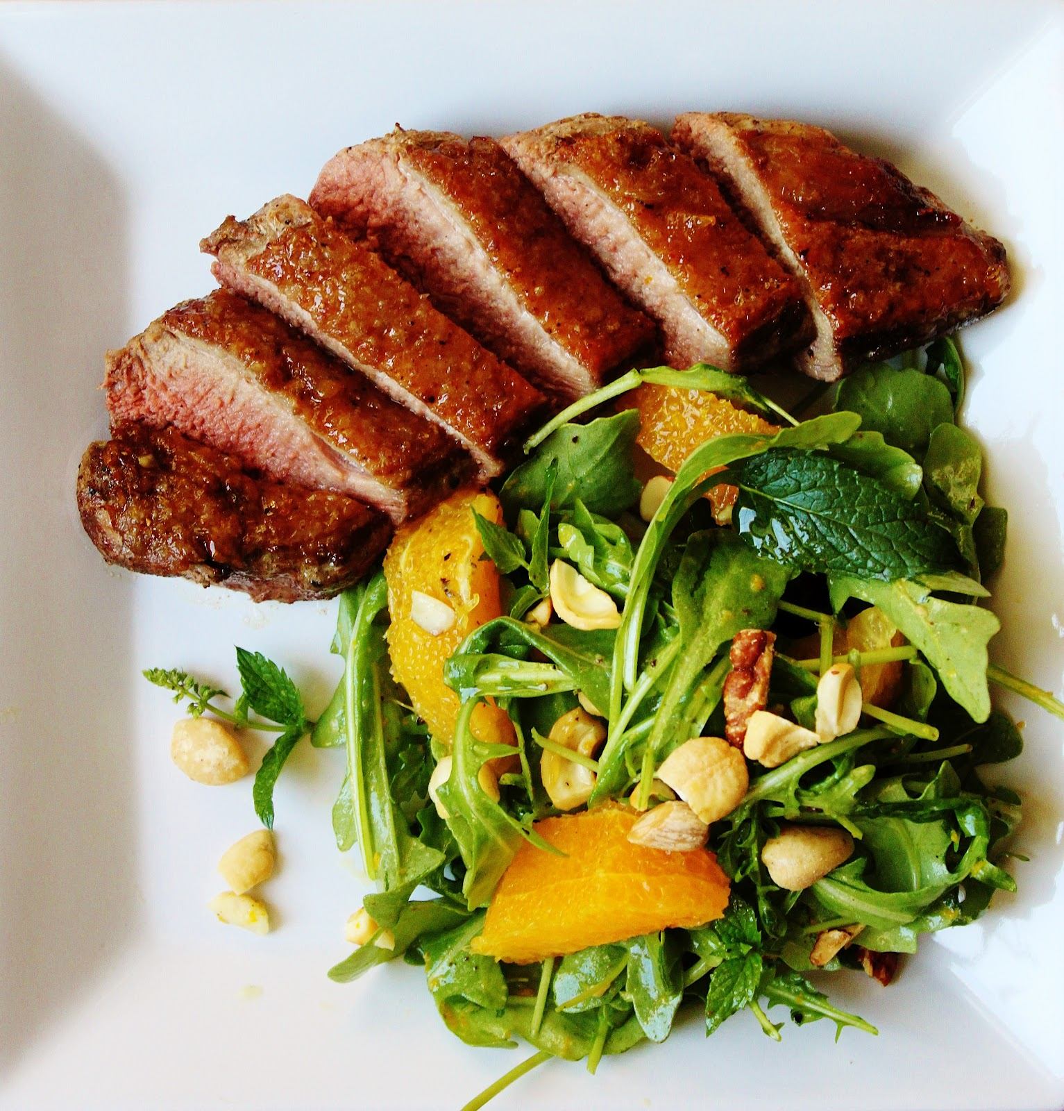 Anise Yuzu-Roasted Duck Breast with Orange Mint Salad | My ...